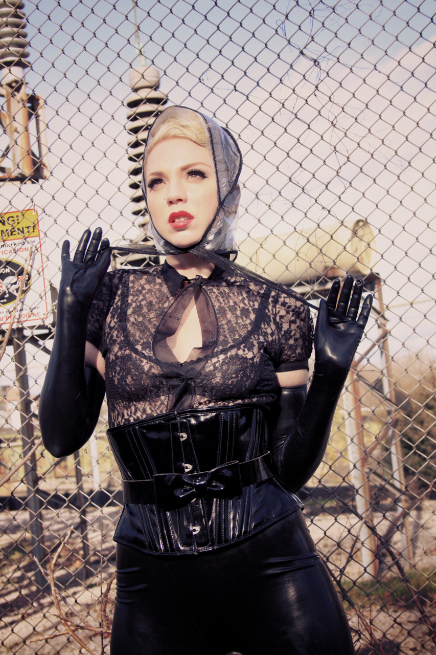 Julie Gems Rubber Fetish Industrial Area